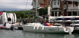 Standard Anchor Marine fenders on boat