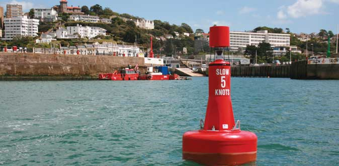 Norfloat International channel marker in Torquay Harbour